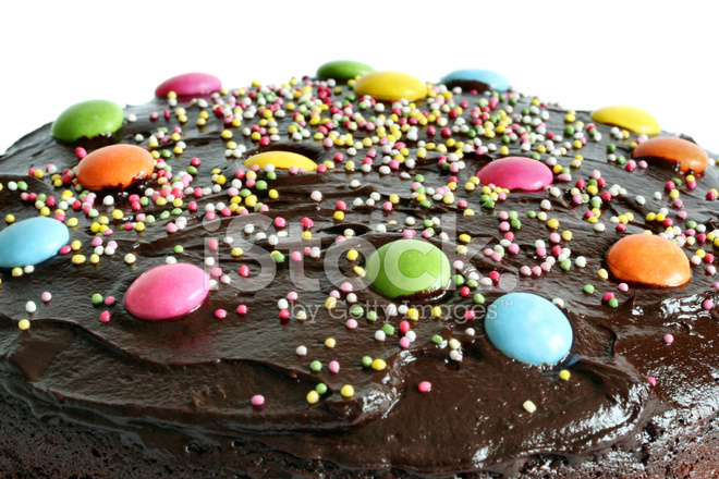 Round Chocolate Birthday Cake Stock Photos Freeimages Com