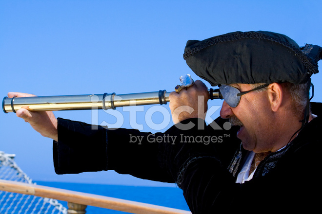 pirate with telescope stock photos freeimages com