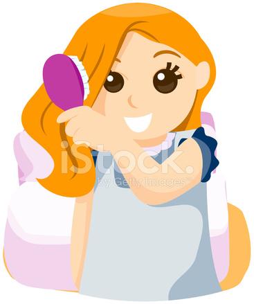 child brushing hair stock vector freeimagescom