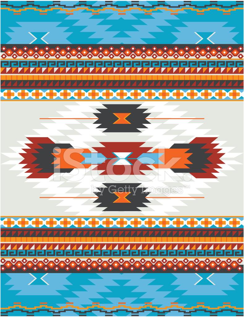 Indianer, Azteken, Maya Muster, Teppich stockfotos