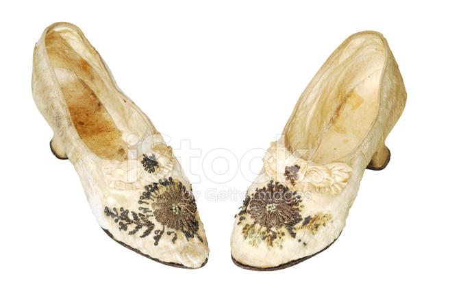 Vieille Femme Chaussures, Fin Xixe Siècle Photos