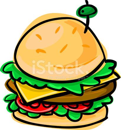 卡通汉堡包