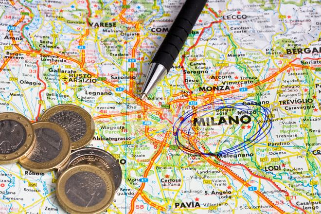milano karta italien Karta Över Norra Italien, Fokus På Stockfoton   FreeImages.com milano karta italien