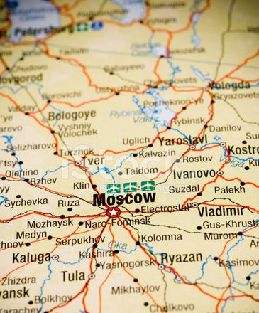 Moskva - Odessa. Podrobnaia karta marshrutov 1:600000 - Russia ...