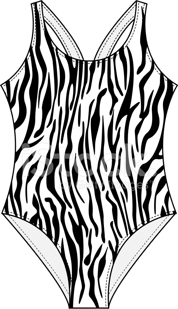 Zebra Print Swimsuit Stock Vector