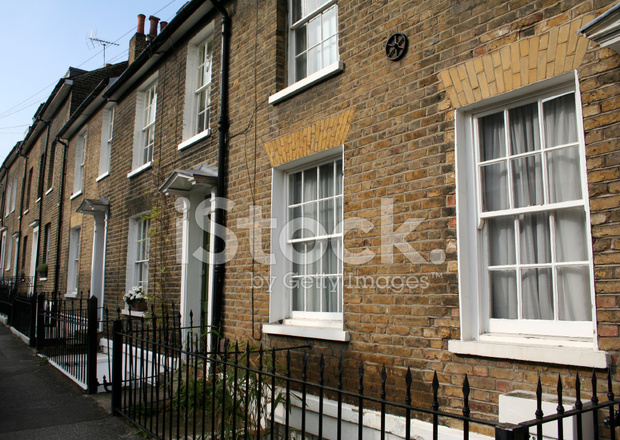 Planos Casas Pericos Londres Terrazas Fotografías De Stock