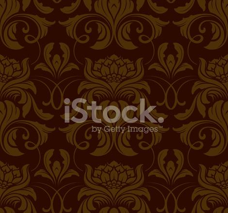 Seamless Elegant Wallpaper Background Stock Vector