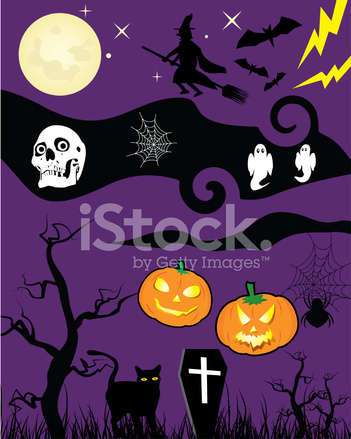 Cartoni animati di halloween stock vector freeimages