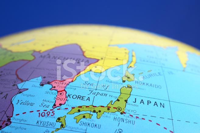 Global map japan amp korea stock photos freeimages global map japan amp korea gumiabroncs Images