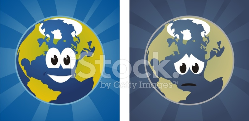 Happy and Sad Faced Earth Stock Vector - FreeImages.com