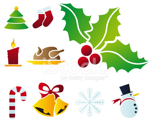 Vector Christmas Symbols Stock Vector Freeimages