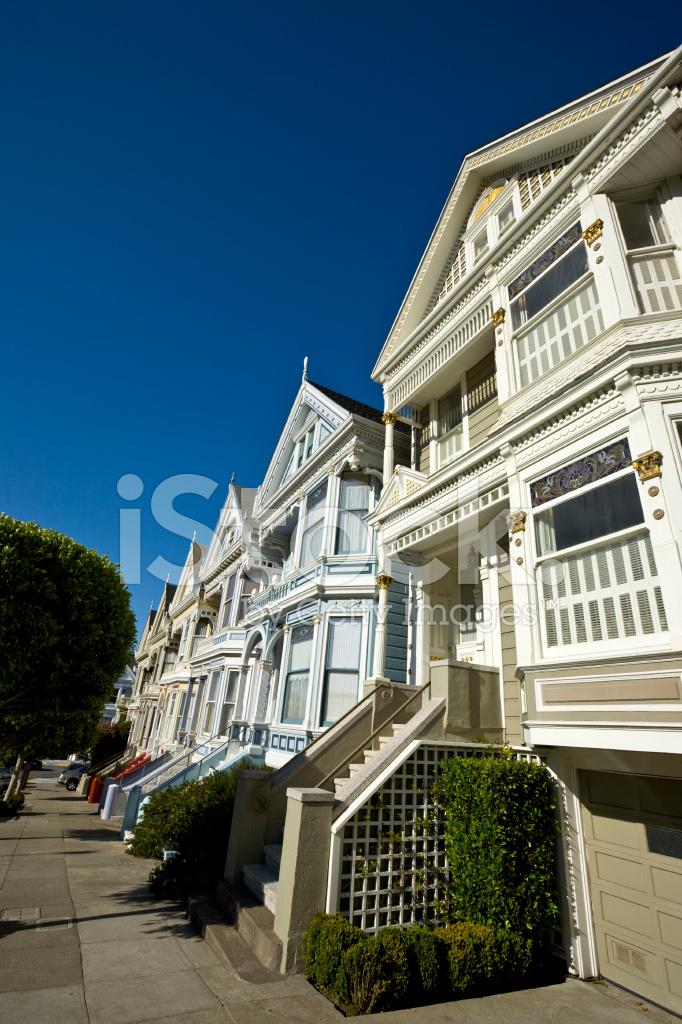 Rang e de maisons de style victorien magnifiquement restaur alamo square p - Maison style victorien ...