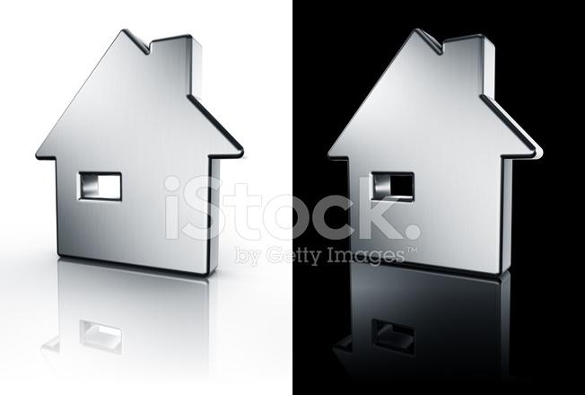 Haus Symbol Auf Weißem UND Schwarzem Boden Stockfotos - FreeImages.com