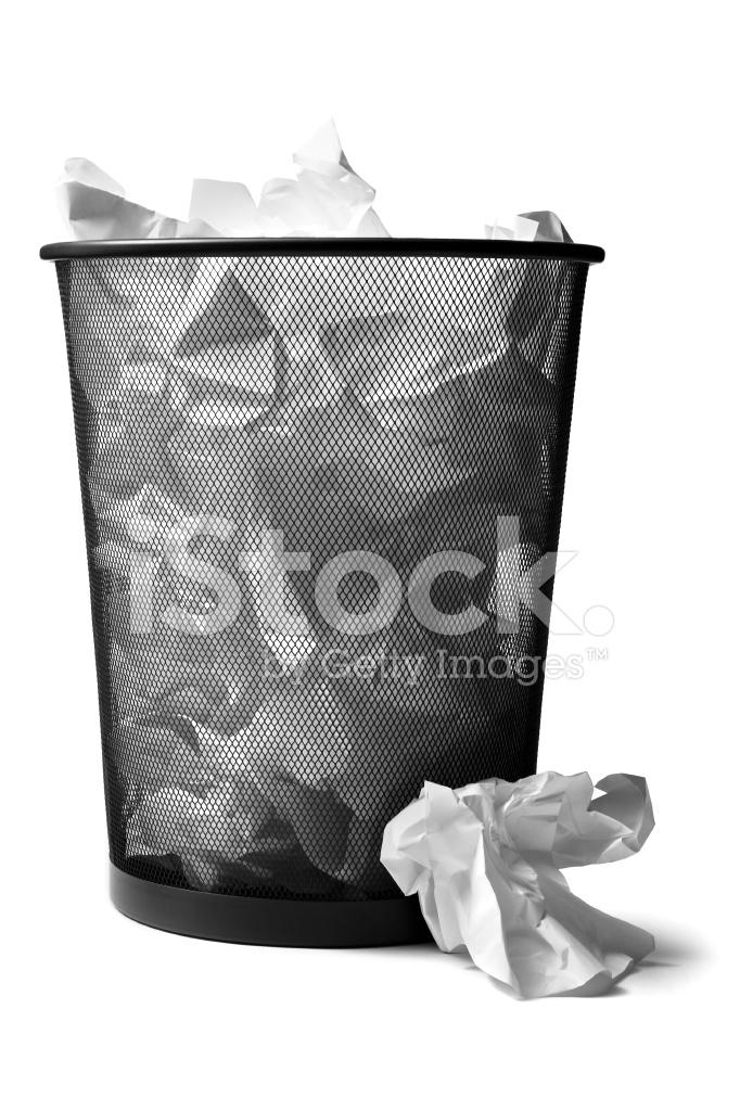 Office: Wastepaper Basket Full