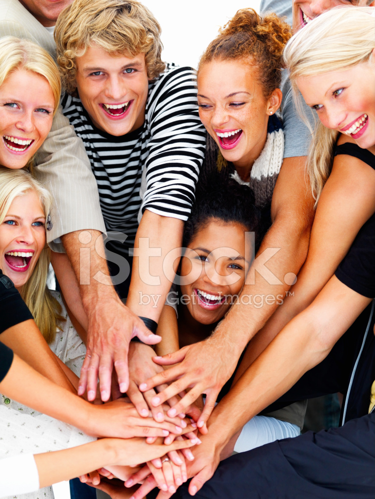 Group of Young Friends Showing Unity Stock Photos - FreeImages com
