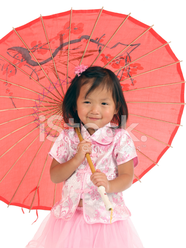 Chinese Toddler Holding Umbrella Stock Photos Freeimages Com