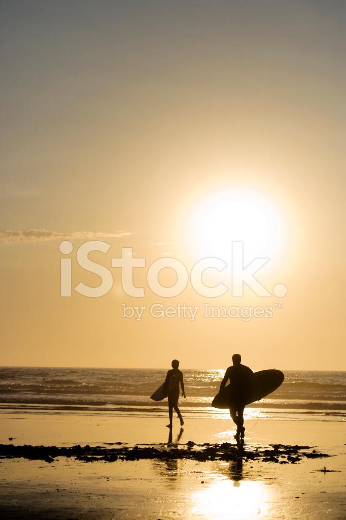 Endless Summer Surfers In La Jolla