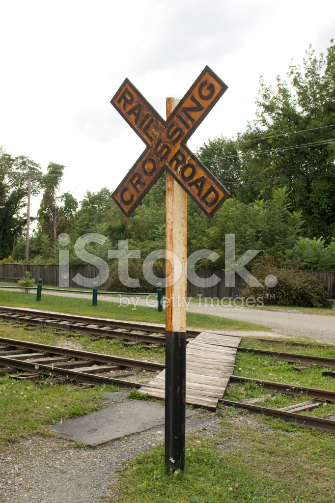 Vintage Railroad Crossing Sign Stock Photos - FreeImages com