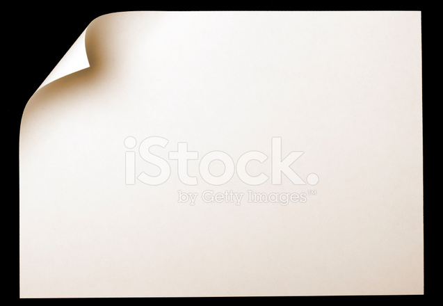 Paper Page With Curl Stock Photos Freeimages