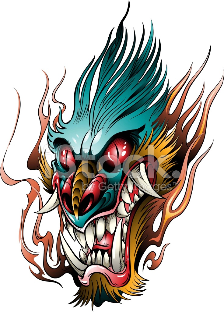 angry dragon head stock vector freeimages com