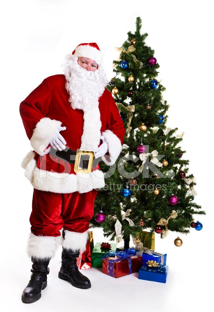 Albero Di Natale E Babbo Natale.Babbo Natale E Un Albero Di Natale Fotografie Stock Freeimages Com