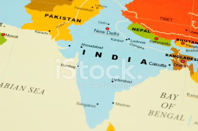 Indien Pa Karta Stockfoton Freeimages Com