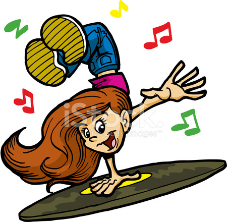 Teenage Hip Hop Girl Dancing To Music Stock Vector Freeimages Com