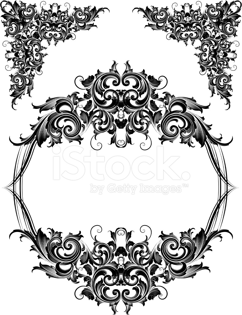Scroll Ecken UND Rahmen Stock Vector - FreeImages.com