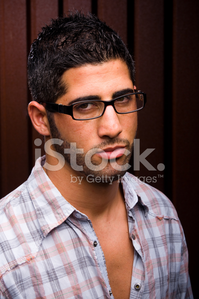 Young Man With Glasses Glaring Stock Photos - FreeImages.com