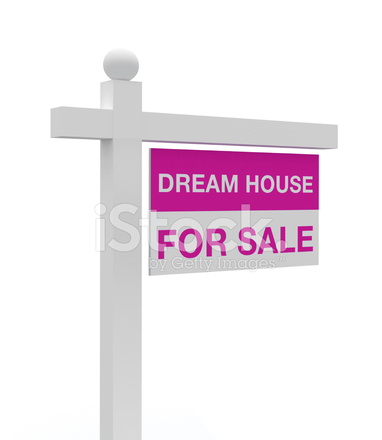 Dream house for sale sign stock photos for Dream house for sale