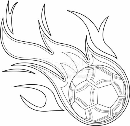 Black White Flaming Soccer Ball 349412