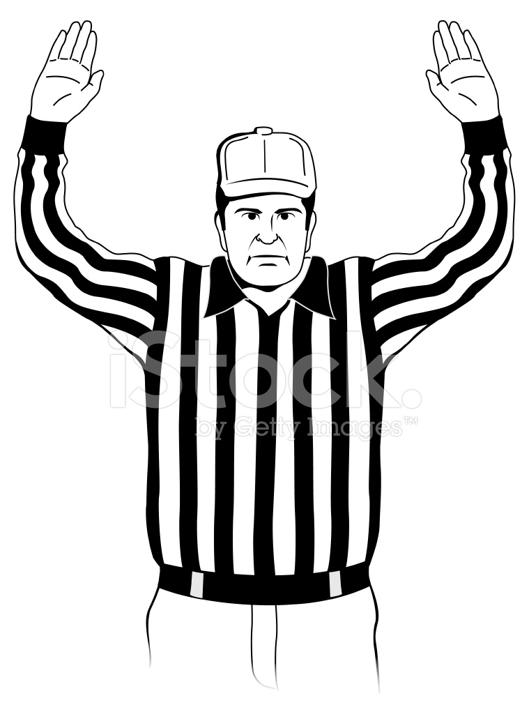 Referee Touchdown Signal Stock Vector Freeimages Com
