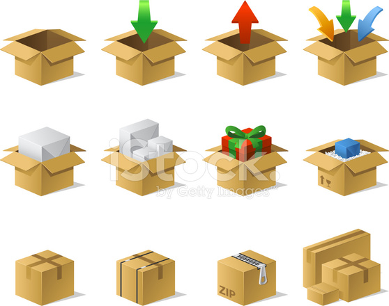 Shipping Box Download Icons Stock Vector - FreeImages.com