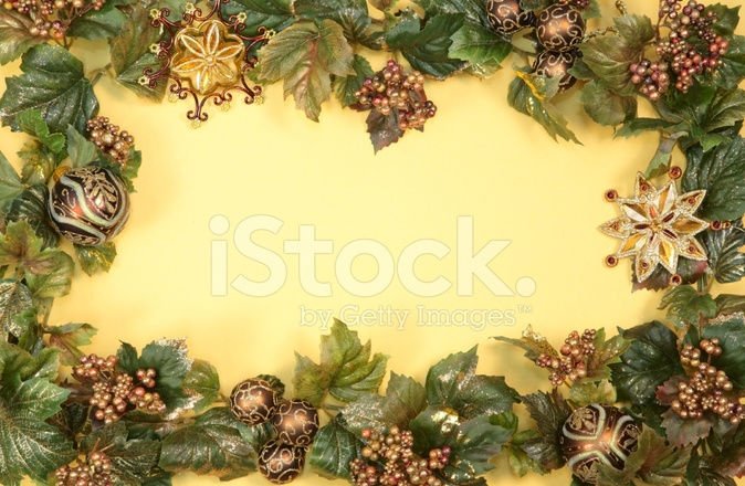 holiday christmas border in bronze brown and gold stock photos
