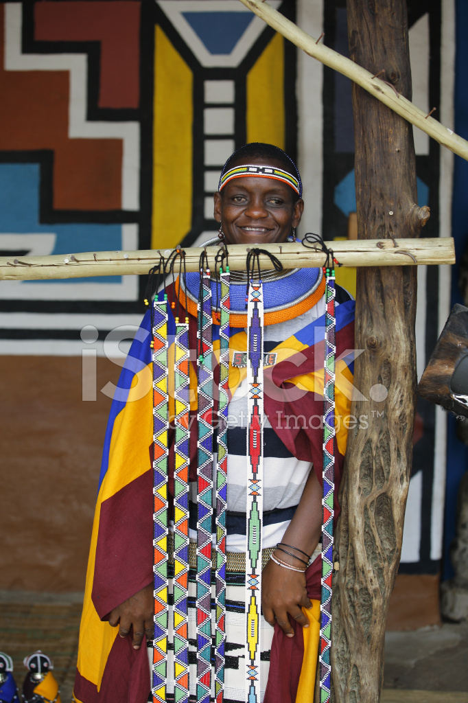 Ndebele Woman And Beads Stock Photos Freeimages Com