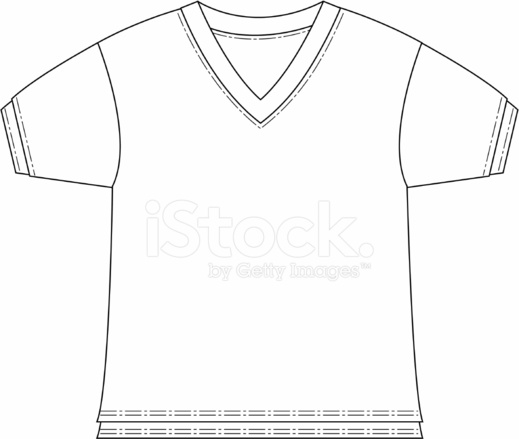 boys v neck t shirt template stock vector