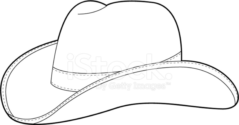 wild west cowboy hat template stock vector freeimages com
