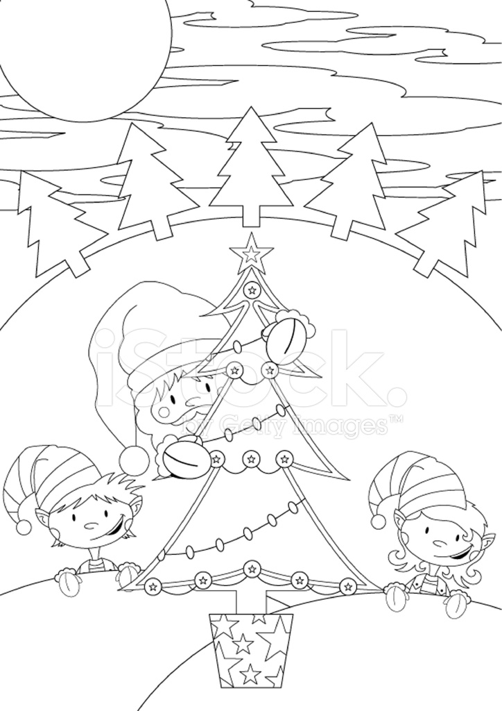 Color En Santa Claus & Elfos Stock Vector - FreeImages.com