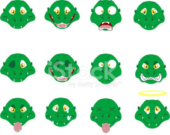 T Rex Emoticons Stock Vector Freeimages Com