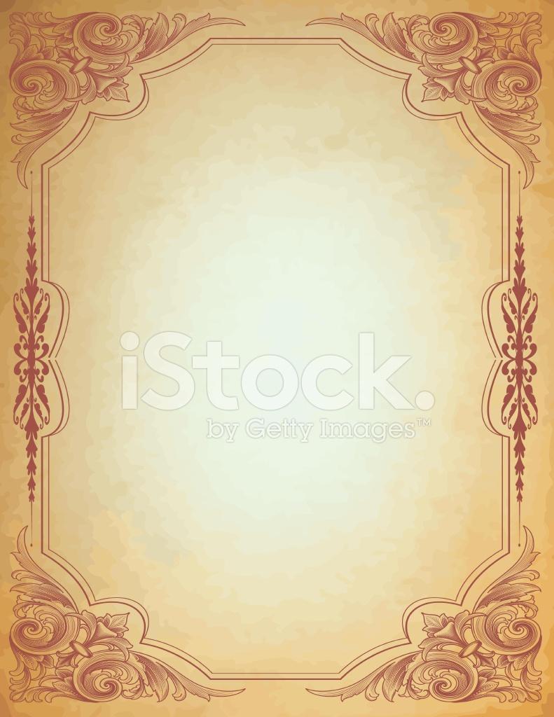 Cornice Pergamena Arabesque Stock Vector Freeimagescom