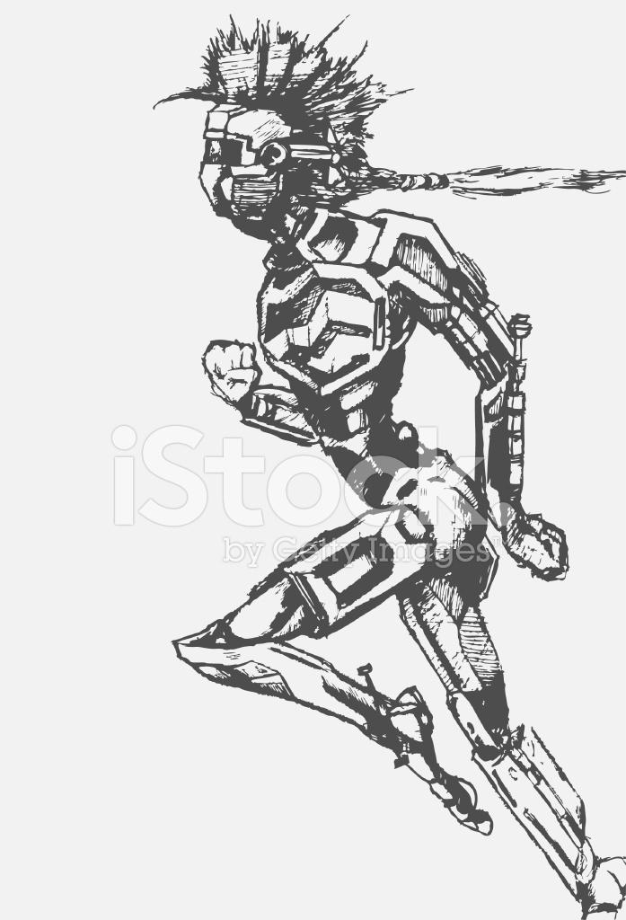 Robot Sketch Stock Vector - FreeImages.com