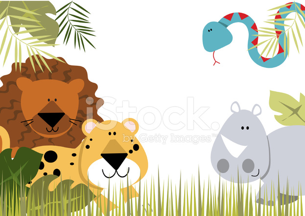 Jungle Animals Border 2 Stock Vector - FreeImages.com