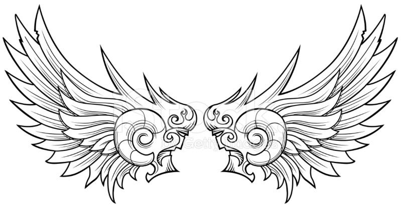 动画翅膀图片手绘
