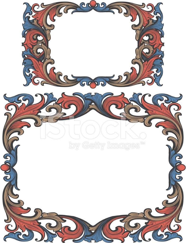 Arabesque Vintage Scrollwork Marco Stock Vector - FreeImages.com