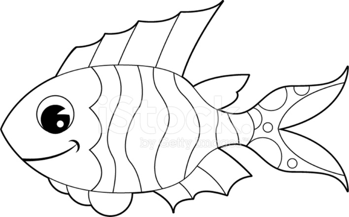 Colour IN Fish Character Stock Vector - FreeImages.com