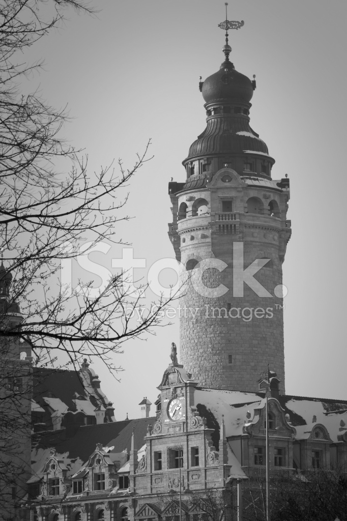 Leipzig In Winter Neues Rathaus New Townhall Stock Photos Freeimages Com