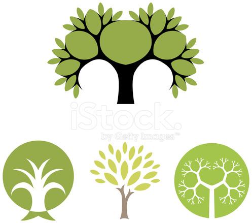 Tree Vector Symbols Stock Vector