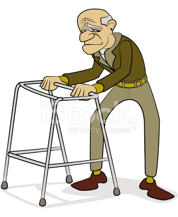 Old Man With Walking Frame Cartoon stock photos - FreeImages.com Old Man Walking Cartoon