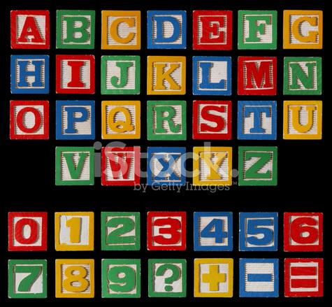 Alfabeto Blocos Xxxl Em Conjunto Completo Preto Com Números Fotos Do