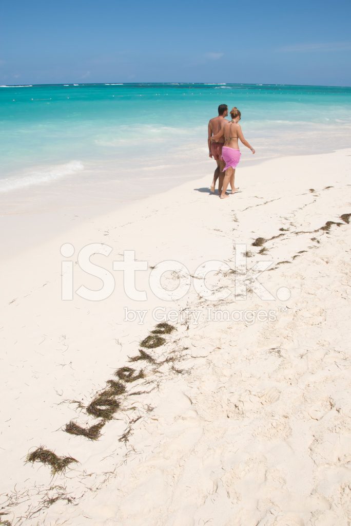 Premium Stock Photo Of Romantic Message Tropical Beach